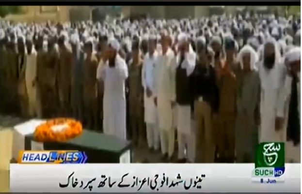 Funeral prayers held for Pakistan Army officers martyred in North Waziristan blast