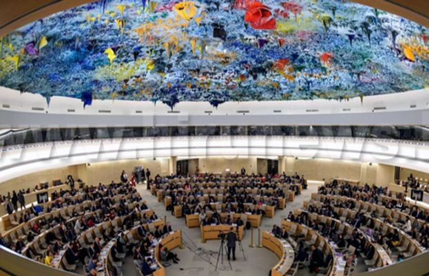Pakistan on behalf of over 50 countries delivers joint statement at UNHRC