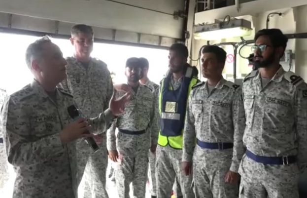 Naval Chief visits PN ship out at sea to celebrate Eid with personnel