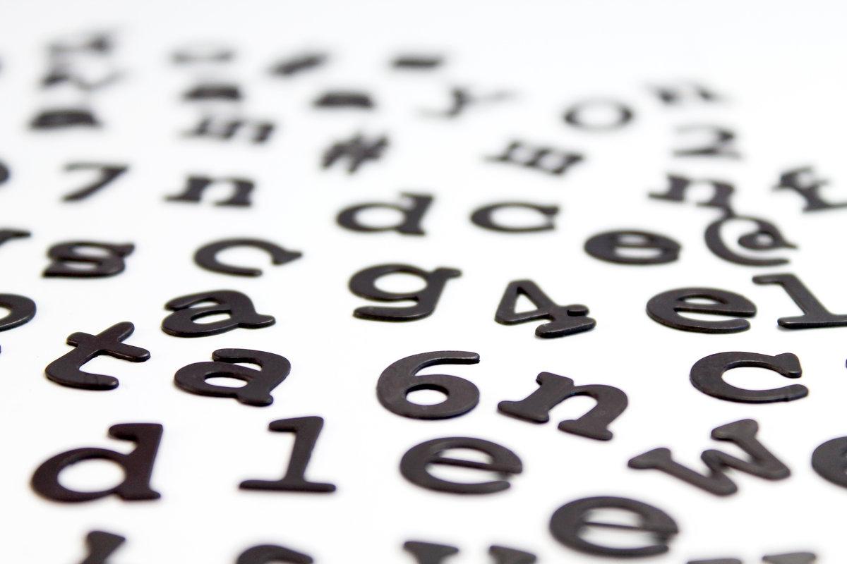 Fridge Fonts Fridge Magnet Letters With Character