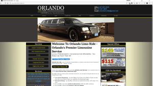 orlando limo ride website by sucoweb