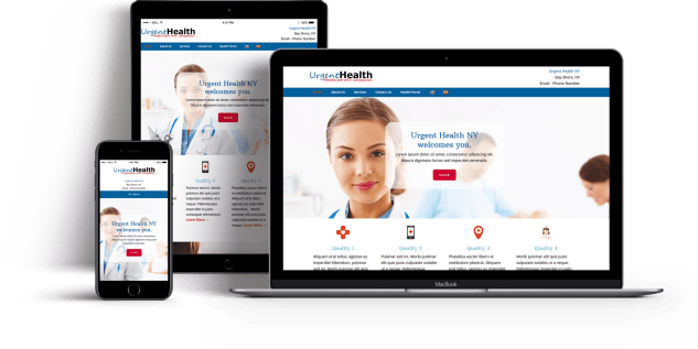 Urgent Health website built by Suffolk County Webmasters