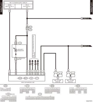 Subaru Crosstrek Service Manual  Immobilizer system Wiring diagram  Wiring system