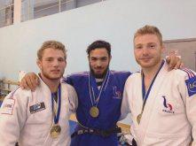 Arthur Clerget, Mehdi Tobrouki et Axel Clerget à l'European Cup d'Orenbourg 2015