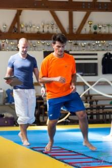 Adrien Raymond à la préparation physique