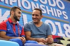 Luka Mkheidze aux championnats du Monde de Bakou 2018 / Crédit : Arthur Clerget