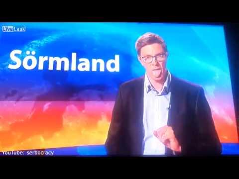 بالفيديو: فضيحة مذيع سويدي على الهواء مباشرة