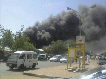 حريق كبير في المدينة السكنية بمجمع سدي أعالي عطبرة وسيتيت