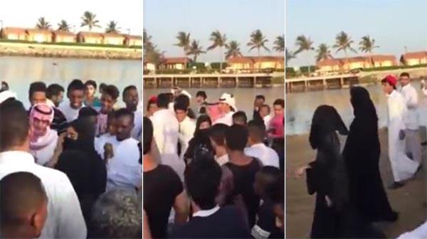 بالفيديو ..تحرش جماعي بفتاتين في جدّة بالسعودية ثاني أيام عيد الفطر