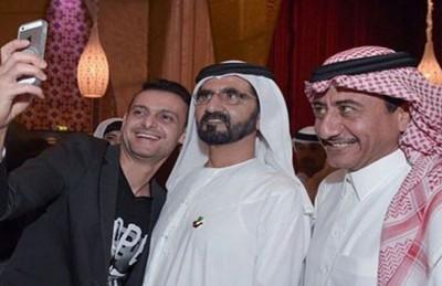 """رامز جلال يلتقط """"سيلفي"""" مع حاكم دبي الشيخ محمد بن راشد"""