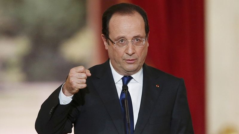 """هولاند: هجمات باريس """"عمل حرب"""".. وداعش وراءها.. الرئيس الفرنسي أعلن حالة الطوارئ وإغلاق الحدود.. والحداد لـ3 أيام"""