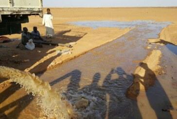 بالصور : مغتربي تنقسي يفجرون ينابيع الأرض من الأعماق لمكافحة الغول الصحراوي !!
