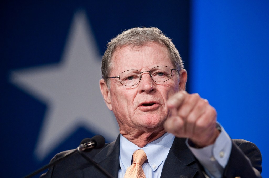 Sen. James Inhofe, R-Okla., has said for years that as long as he can fly a plane upside down, he will continue to run for reelection. [Photo by Bill Clark/Roll Call]