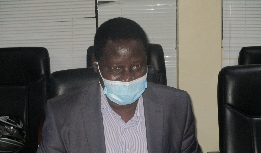 Dr. John Rumunu, Director-General for Preventive Health Services at the Ministry of Health speaking to reporters in Juba June 20, 2021 [Photo by Sudans Post]