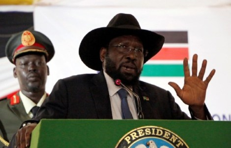 South Sudan President Salva Kiir Mayardit speaking during an even at the state house at unknown date. [Photo by unknown]