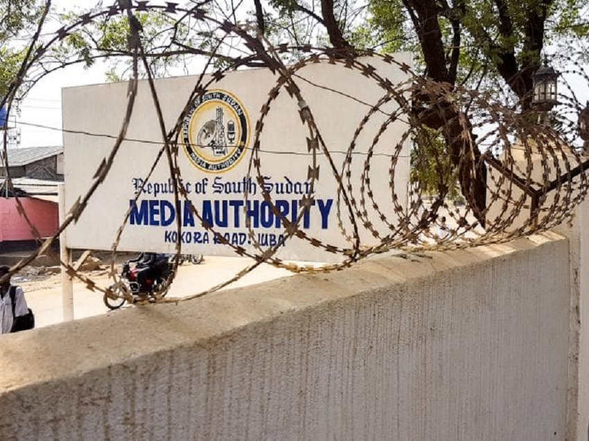 South Sudan's Media Authority headquarters in Juba. [Photo by Richard Stupart/Humanitarian News Research Network]