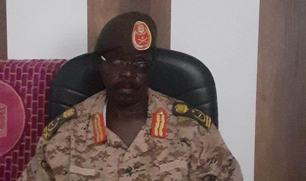 Commander of SPLA-IO's Sector Seven in Western Bahr el Ghazal state 1st Lt. Gen. Thomas Baselio Tendo Kali. [Photo via Facebook]