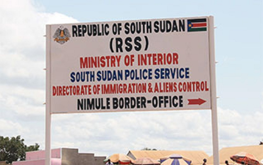 Nimule border point billboard. [Photo via Observer Uganda]
