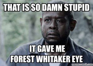 Forest Whitaker eye
