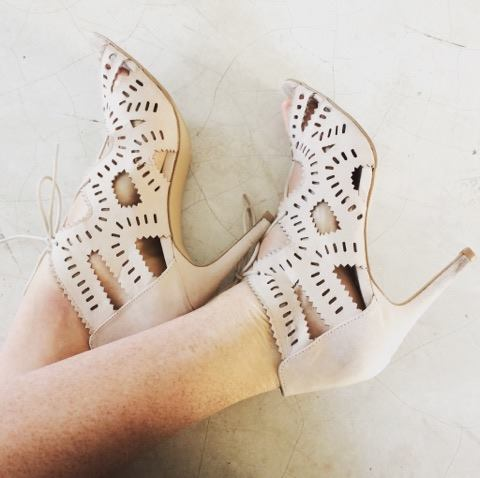 Cream high heels for ladies from The Fix