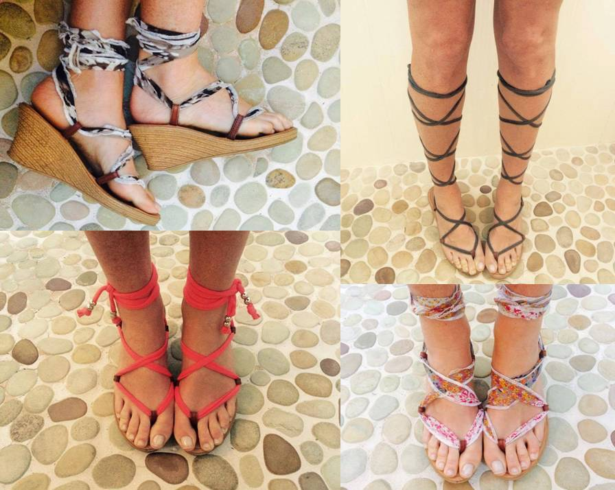 WEdge sandals with interchangeable straps