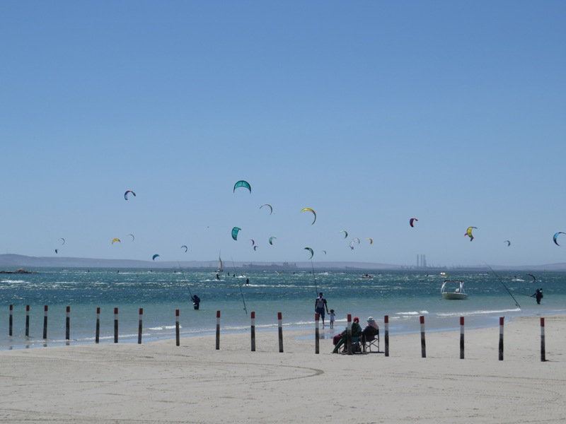 Kiting at Langebaan