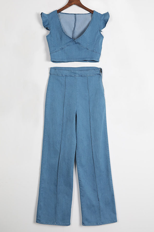 Denim two piece set view