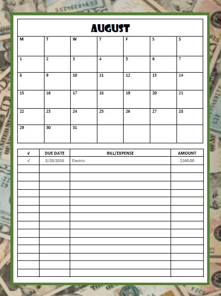 Calendar and Finance Tracker