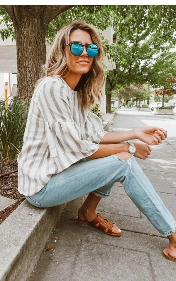 Flutter sleeve blouse2