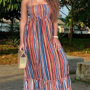 Multicolor Striped Dress