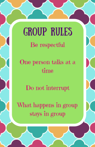 Group Rules Poster
