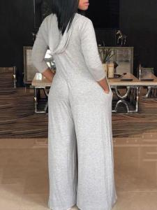 Gray hooded jumpsuit