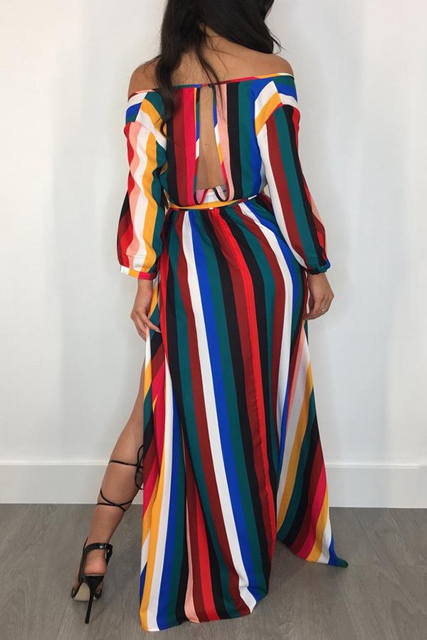 Multi wrap dress back