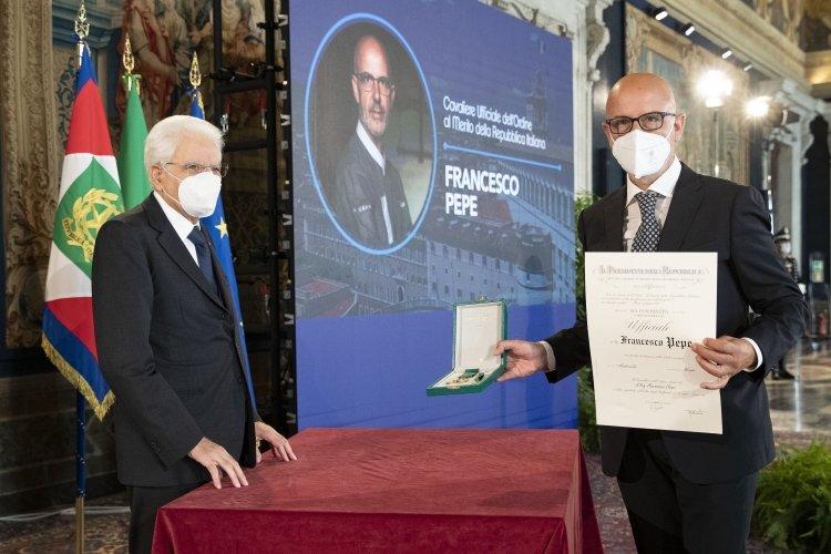 Riconoscimento al pizzaiolo campano Franco Pepe: Ufficiale dell'Ordine, al Merito della Repubblica Italiana