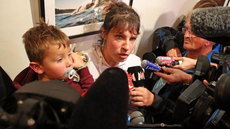 Aurélie Bingler (de Calan) dont la fille est atteinte d'agénésie.