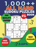 1,000++ All HARD Sudoku Puzzles Book