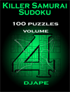 Killer Samurai Sudoku, 100 puzzles, volume 4