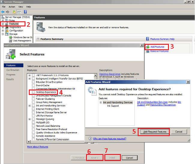 Server 2008 R2 - Desktop Experience Feature