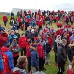 Landsmótsgestir hafa verið áberandi í Grindavík