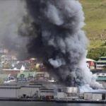 Stórbruni í Færeyjum – Suðurnesjafólk á svæðinu