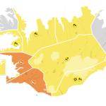 Appelsínugul veðurviðvörun – Flugi frá KEF aflýst eða því frestað