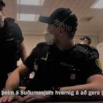 Akureyrarlöggur kenndu Suðurnesjalöggum réttu danssporin – Myndband!
