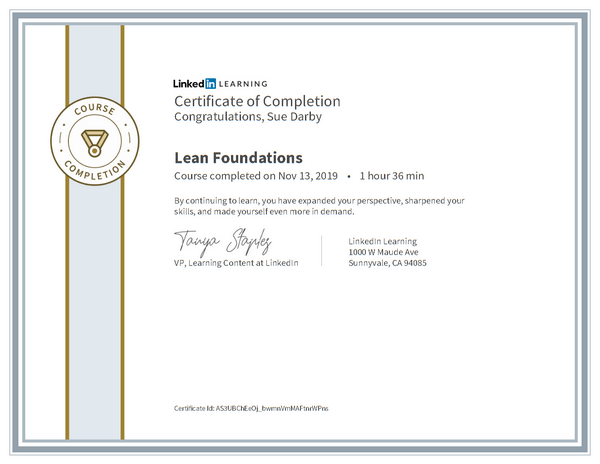 Certificate Of Completion Lean Foundations