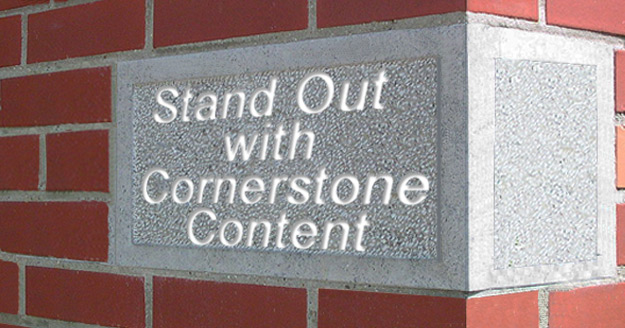 Cornerstone Content brick wall