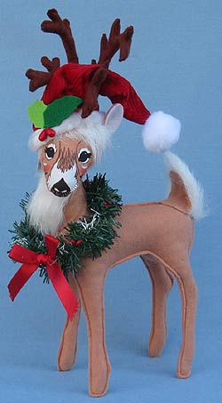 Annalee 12 Holly Berry Reindeer 2015 Mint 450315