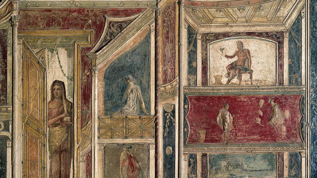 Alte Agyptische Malereien Auf Der Steinplatte Fototapete