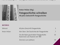 """40. Geburtstag der Zeitschrift """"Fotogeschichte"""": Verdopplung der Welt"""