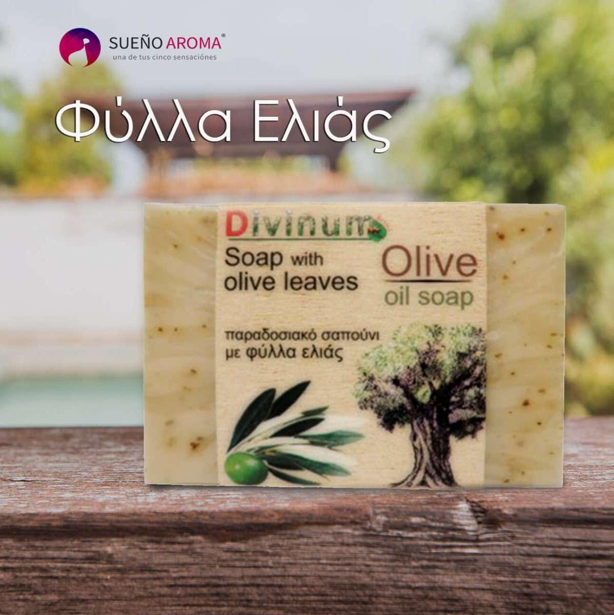 handmade soap olive leaves olive oil divinum