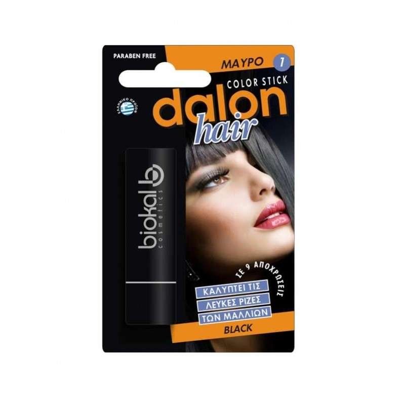 Dalon Hair Color Black Στικ Κάλυψης Μάυρο