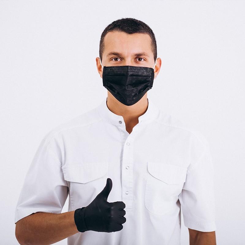 Μάσκα Προστασίας Διπλή Επένδυση & Υποδοχή για Γάζα